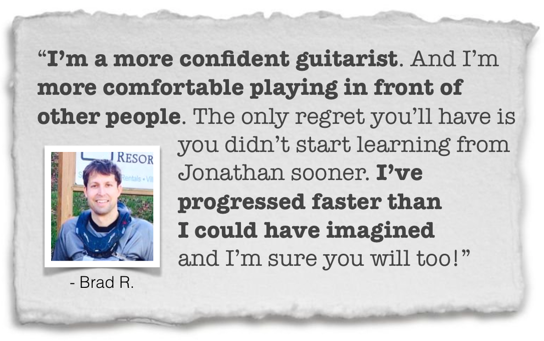 how to build confidence on guitar